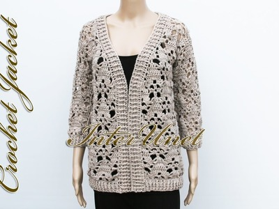 Jacket cardigan crochet pattern