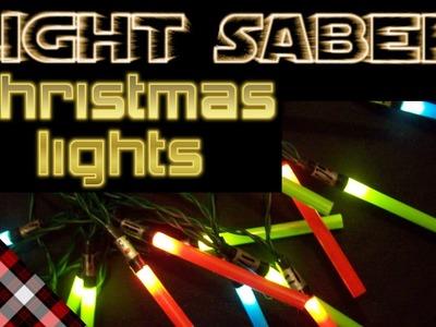 Light Saber Christmas Lights -- DIY