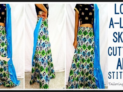 Long A-Line Skirt Cutting And Stitching | DIY - Tailoring With Usha