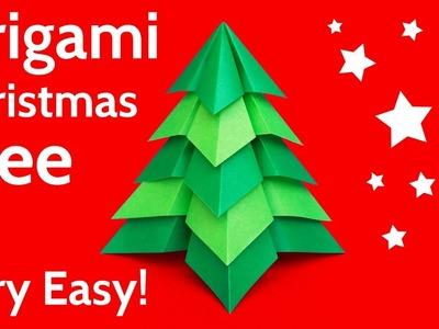 Make a Very Easy Origami Christmas Tree