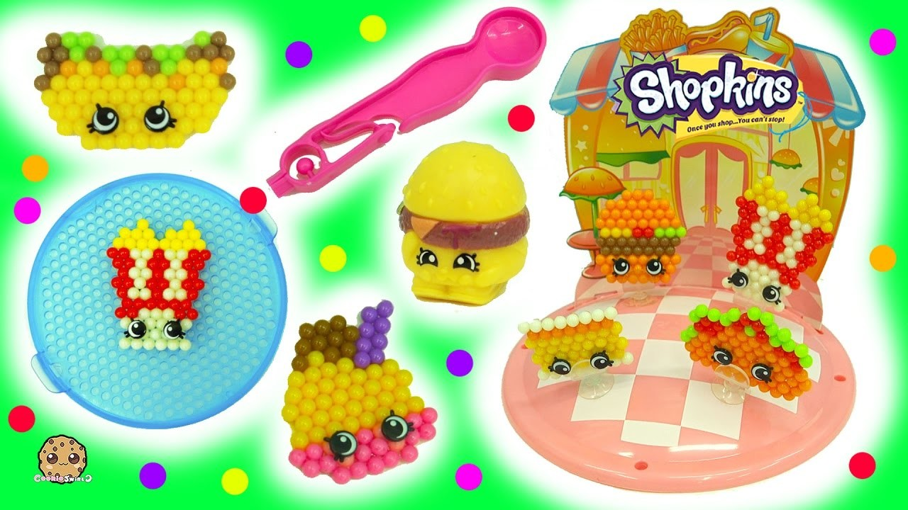 Make Your Own Fast Food Diner Shopkins - Beados  Water Beads Craft Playset - Toy Video