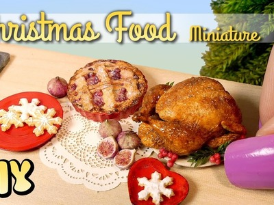 Miniature Christmas Goodies. DIY Dolls.Dollhouse Food
