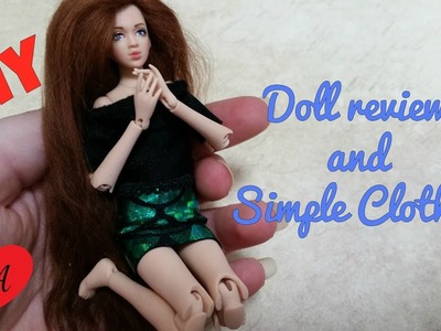 MINIATURE doll clothes TUTORIAL. DOLLHOUSE. DIY + review!