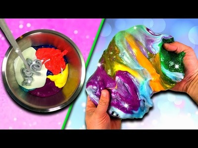 Mixing all my slime! How to make a Slime Smoothie. DIY Slime How To