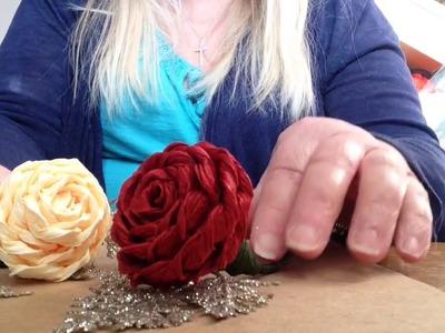 Rolled Italian Crepe Paper Rose