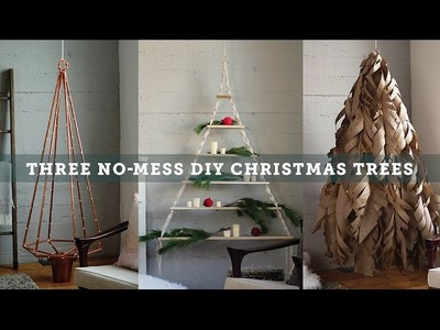 Three No Mess DIY Christmas Trees