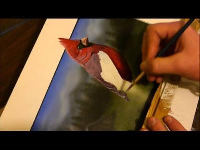 """3D Cardinal"" Painting Time Lapse"