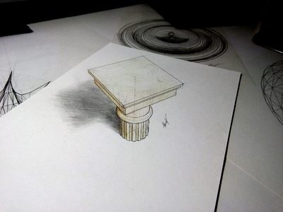 3D drawing #2 - Capital [Speed drawing]