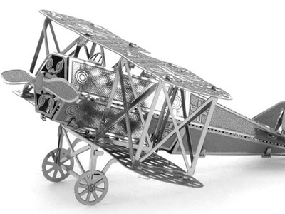 3D Metal Fokker Aircraft Model Puzzle