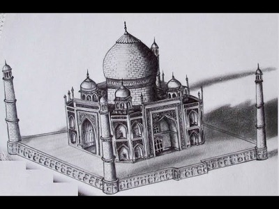 3D Taj Mahal Drawing