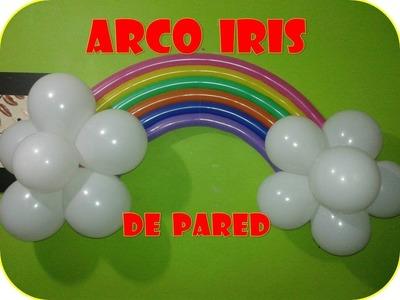 ARCO IRIS CON GLOBOS (para pared)