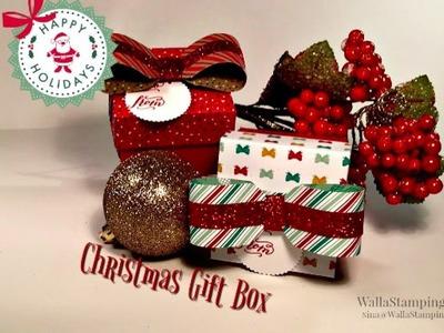 Christmas Gift Box Presents & Pinecones DSP