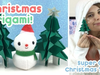 Christmas Origami! Super Cute Christmas Tree - KiraKiraDoodles