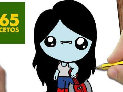 COMO DIBUJAR A MARCELINE KAWAII PASO A PASO - Dibujos kawaii faciles - How to draw Marceline