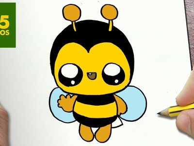 COMO DIBUJAR ABEJA KAWAII PASO A PASO - Dibujos kawaii faciles - How to draw a bee