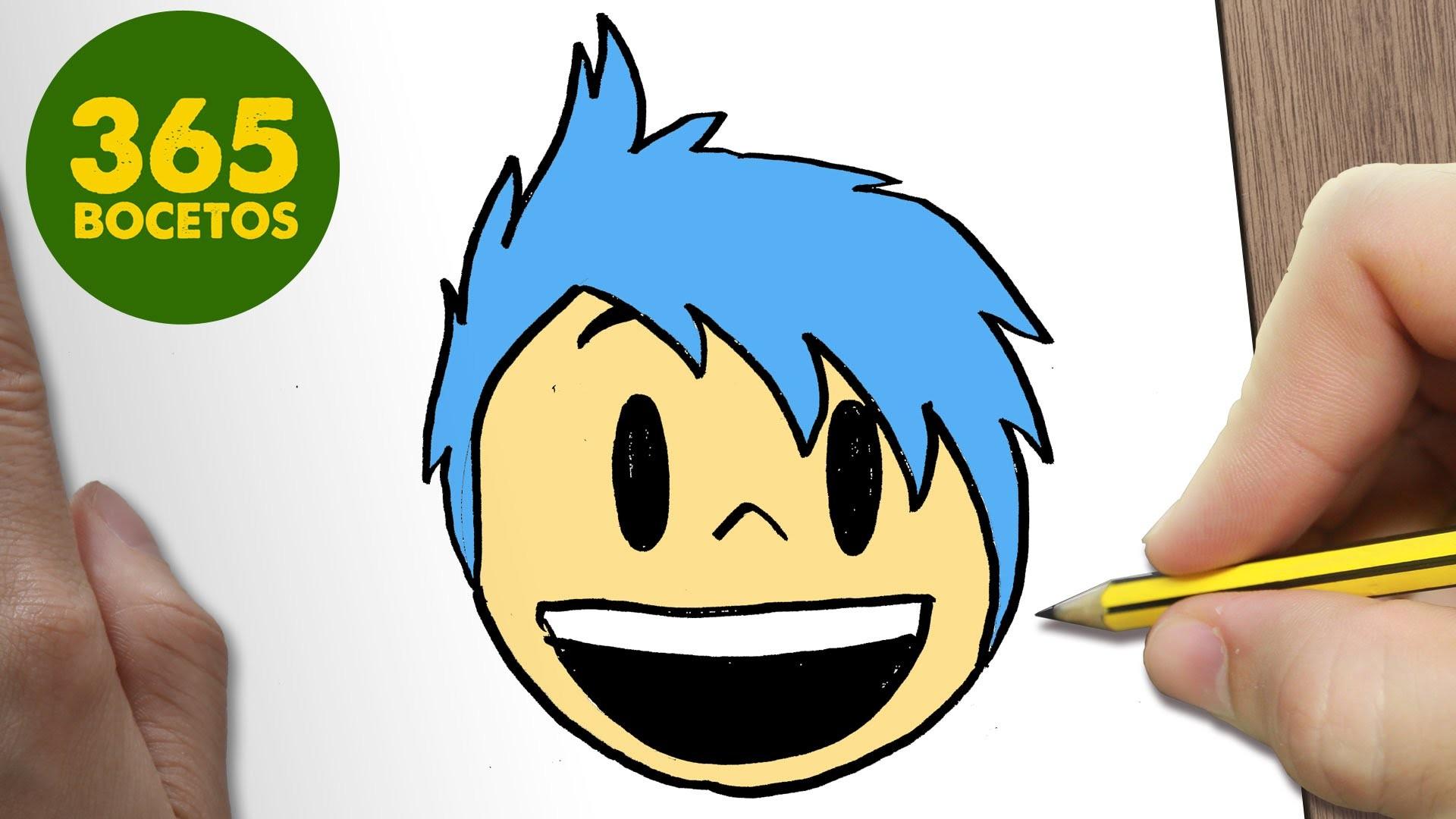 Como Dibujar Alegria Emoticonos Whatsapp Kawaii Paso A Paso