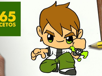 COMO DIBUJAR BEN 10 KAWAII PASO A PASO - Dibujos kawaii faciles - How to draw a Ben 10