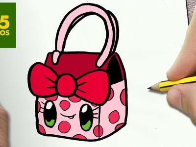 COMO DIBUJAR BOLSO KAWAII PASO A PASO - Dibujos kawaii faciles - How to draw a HANDBAG