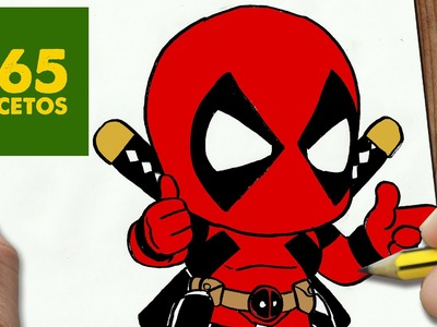 COMO DIBUJAR DEADPOOL KAWAII PASO A PASO - Dibujos kawaii faciles - How to draw  Deadpool