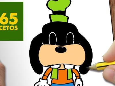 COMO DIBUJAR GOOFY KAWAII PASO A PASO - Dibujos kawaii faciles - How to draw a Goofy