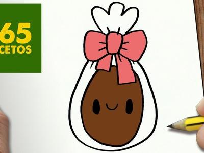 COMO DIBUJAR HUEVO DE CHOCOLATE KAWAII PASO A PASO - Dibujos kawaii faciles - draw a CHOCOLATE EGG