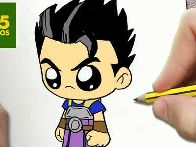 COMO DIBUJAR KYABE DRAGON BALL SUPER KAWAII PASO A PASO - Dibujos kawaii faciles - How to draw KYABE
