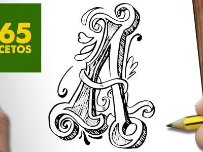COMO DIBUJAR LETRA A PASO A PASO - Dibujos kawaii faciles - How to draw  A