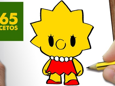 COMO DIBUJAR LISA SIMPSON KAWAII PASO A PASO - Dibujos kawaii faciles - How to draw a Lisa Simpson