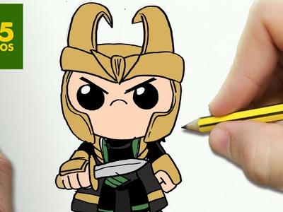 COMO DIBUJAR LOKI KAWAII PASO A PASO - Dibujos kawaii faciles - How to draw a LOKI