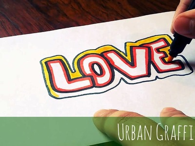 Como dibujar love en graffiti dibujos de amor como desenhar amor