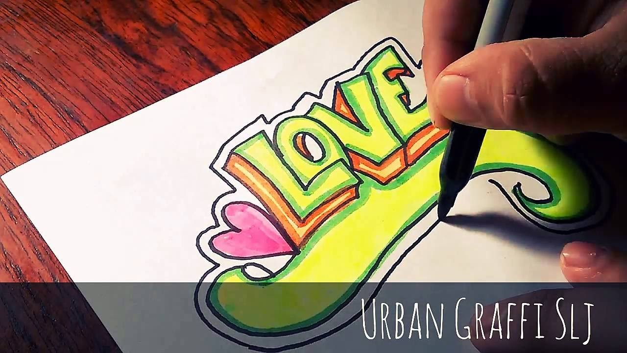 Como dibujar love en graffiti how to draw love graffiti letters dibujos de amor