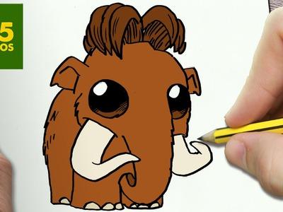 COMO DIBUJAR MANNY KAWAII PASO A PASO - Dibujos kawaii faciles - How to draw a MANNY