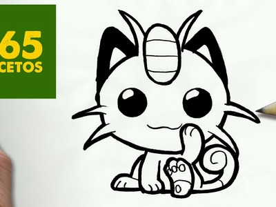 COMO DIBUJAR MEOWTH KAWAII PASO A PASO - Dibujos kawaii faciles - How to draw MEOWTH