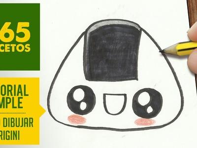 COMO DIBUJAR Onigiri KAWAII PASO A PASO - Dibujos kawaii faciles - How to draw a Onigiri
