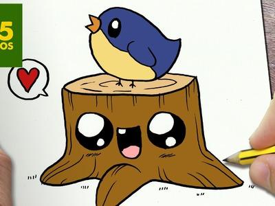 COMO DIBUJAR PAJARITO KAWAII PASO A PASO - Dibujos kawaii faciles - How to draw a BIRD