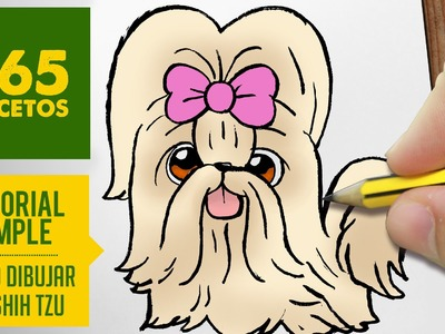 COMO DIBUJAR PERRITOS SHIH TZU KAWAII PASO A PASO - Dibujos kawaii faciles - How to draw a Shih Tzu