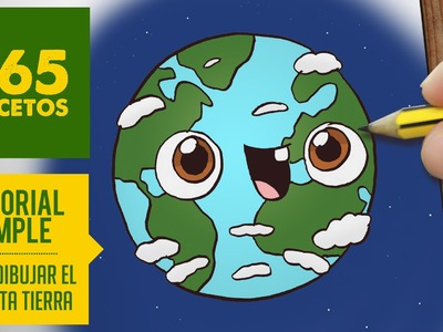 COMO DIBUJAR PLANETA TIERRA KAWAII PASO A PASO - Dibujos kawaii faciles - How to draw a Earth