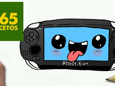 COMO DIBUJAR PSP VITA KAWAII PASO A PASO - Dibujos kawaii faciles - How to draw a PSP VITA