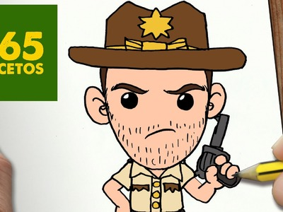 COMO DIBUJAR RICK THE WALKING DEAD KAWAII PASO A PASO - Dibujos kawaii faciles - How to draw a RICK
