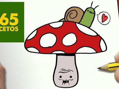 COMO DIBUJAR SETA KAWAII PASO A PASO - Dibujos kawaii faciles - How to draw a MUSHROOM