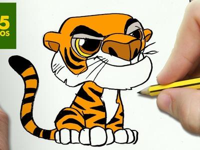 COMO DIBUJAR SHERE KHAN KAWAII PASO A PASO - Dibujos kawaii faciles - How to draw a SHERE KHAN