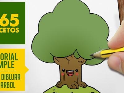 COMO DIBUJAR UN ARBOL KAWAII PASO A PASO - Dibujos kawaii faciles - How to draw a tree