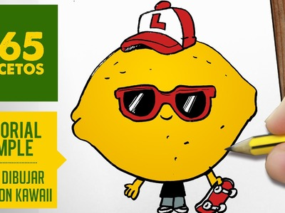 COMO DIBUJAR UN LIMON KAWAII PASO A PASO - Dibujos kawaii faciles - How to draw a lemon