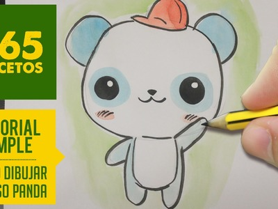 COMO DIBUJAR UN PANDA KAWAII PASO A PASO - Dibujos kawaii faciles - How to draw a Panda
