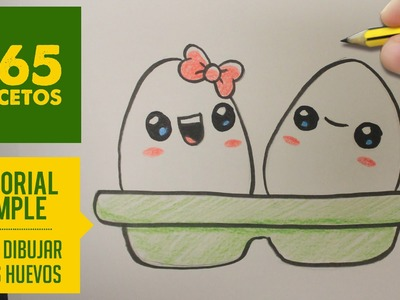 COMO DIBUJAR UNOS HUEVOS KAWAII PASO A PASO - Dibujos kawaii faciles - How to draw a eggs