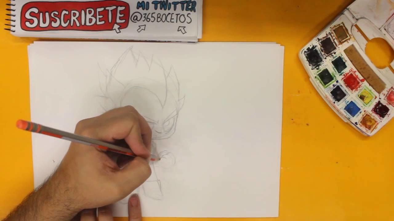 Como Dibujar Vegeta Dios Kawaii Paso A Paso Dibujos Kawaii Faciles