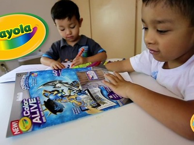Crayola Color Alive 3D books colored by boys in spanish and english