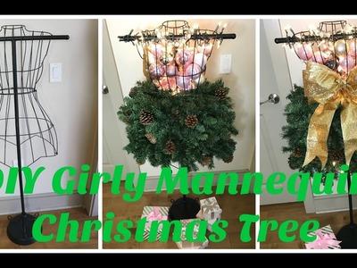 DIY Girly Mannequin Christmas Tree 2016