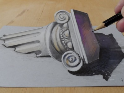 Drawing a 3D Ionic Column, Freehand