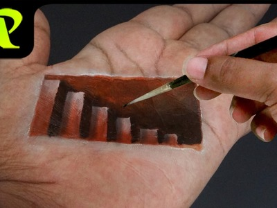 Hand Art 3D - 3D Stairs in My Hand | Trick Art